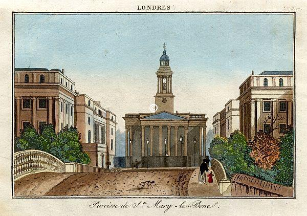 Église Sainte Mary, Paroisse de Marylebone - © Courtesy of MAPCO : Map And Plan Collection Online http://mapco. net